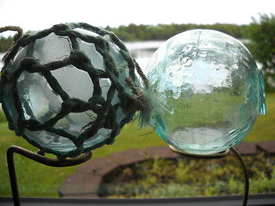 2 Authentic Alaska Beach Combed, Japanese Glass Floats with Water Inside