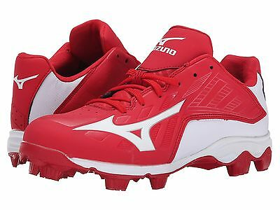 Mizuno Advanced Franchise 8 Low YOUTH Baseball Molded Cleats NIB Red/White