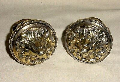 Antique Pair Bronze Stair Post Stop Finials Architectural Home Design France