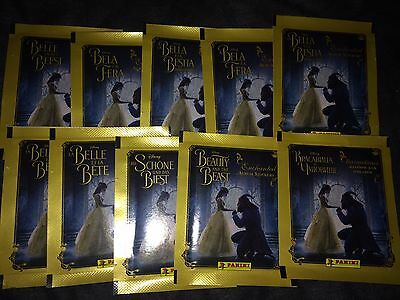 10 Packets Packs of Beauty and the Beast Stickers Panini Party Bag Filler