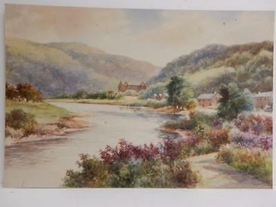 OLD PAINTING LANDSCAPE Tintern Abbey signed G GOODALL