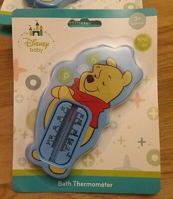 New Disney Baby Winnie The Pooh Blue Baby Bath Safety Thermometer Bpa Free