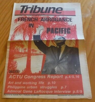 Tribune Australian Communist Weekly Newspaper Sept 1985 labor political nuclear
