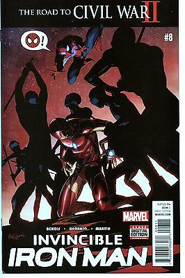 Invincible Iron Man #8 - Brian Michael Bendis - NM - 1st Printing