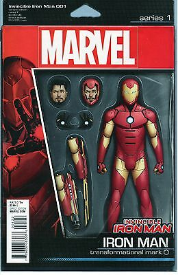 Invincible Iron Man #1 - Action Figure Variant - Bendis - NM - 1st Printing