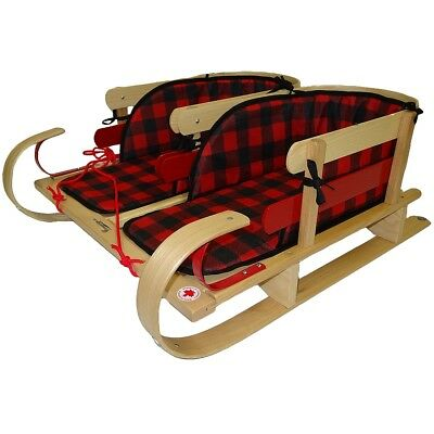 Grizzly Dual Sleigh With Plaid Pads