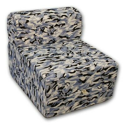 Comfy Kids Flip Chair - Blue Camo
