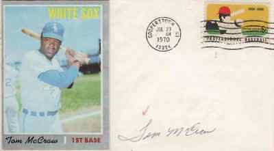 TOM McCRAW Autographed Cover - Chicago White Sox