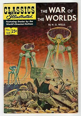 Classics Illustrated WAR OF THE WORLDS No.124 - HR#169 - FN 1970 Vintage Comic