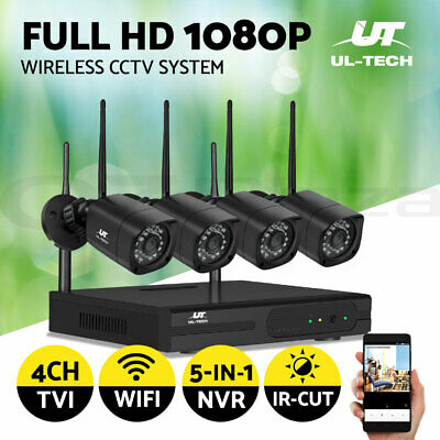 1080P CCTV Security Camera HDMI 4CH DVR Video Home Outdoor IP System Memory Card