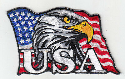 """25 Pcs Eagle USA in USA Flag  Embroidered Patches 3'x4"""" iron-on"""
