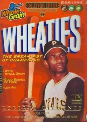 Wheaties Robert Clemente Pittsburg Pirates Gold Collectors Edition Cereal Box