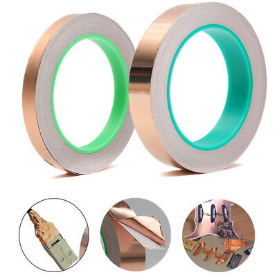 10MM Adhesive Copper Foil Tape EMI Shielding Guitar Slug and Snail Barrier Gifts