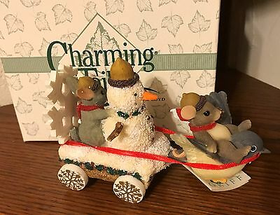 FITZ and FLOYD Charming Tails SNOWMAN FLOAT NIB