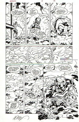 Ron Lim/ Bob Layton 2003 Metallix In Action Original Art!