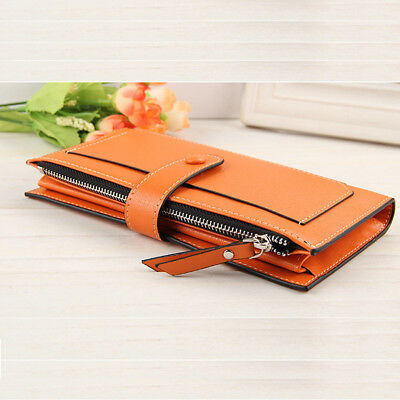 Lady Women's Leather Clutch Wallet Purse Long Card Holder Handbag Case