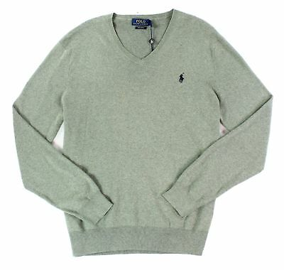 Polo Ralph Lauren NEW Gray Mens Size XL Pullover V-Neck Sweater $98 #144