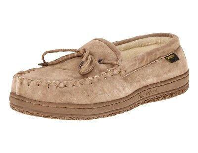 Old Friend Slippers Mens Terry Cloth Moccasin 9 W Chestnut 421221