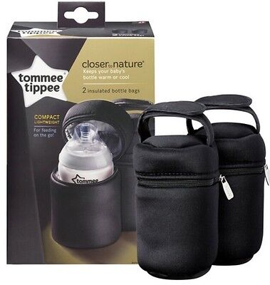 Tommee Tippee Insulated Black Bottle Bag X1