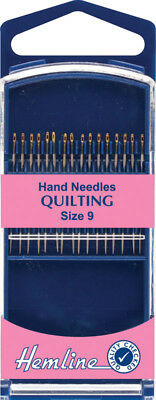 Premium Quilting Hand Needles Size 9 Very Sharp and Fine with Gold Eye