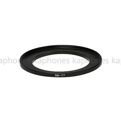 58-77mm Step-Up Metal Lens Adapter Filter Ring / 58mm Lens to 77mm Accessory
