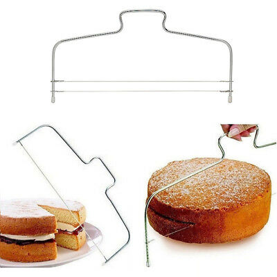 1pc Cake Leveler Slicer Bread Pizza Trimmer With Adjustable Wire Cutter