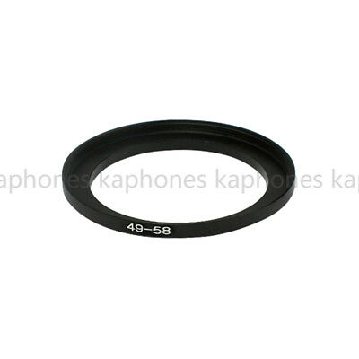 49-58mm Step-Up Metal Lens Adapter Filter Ring / 49mm Lens to 58mm Accessory