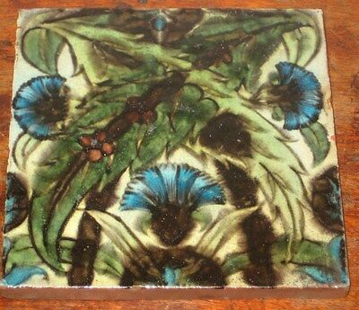 William De Morgan Tile Poole 1870S Persian Flower Design