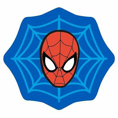 Spiderman Abstract Web Shaped Rug Floor Mat Non-Slip Boys Kids Free P+P