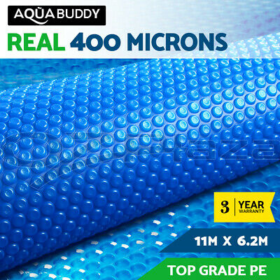 Aquabuddy 11X6.2M Solar Swimming Pool Cover Blanket Bubble Roller Wheel