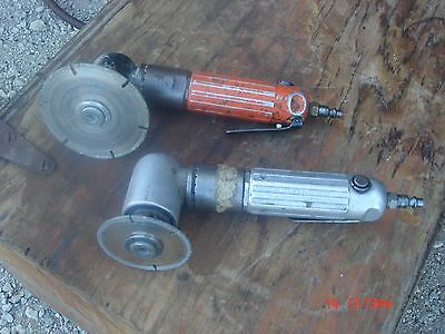2 Dotco Angled Pneumatic Air Grinder 11,000 RPM's Tool  / Diamond Blade Lot #8