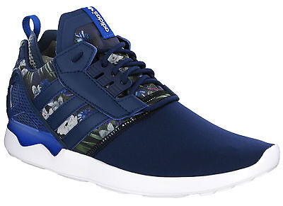 ef527fc81 Adidas ZX 8000 Boost Running Navy Flower Mens Cushioned Lace Up Trainers  B24959