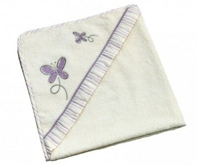 Be Be's Collection 785-26 Kapuzenbadetuch Butterfly 80x80 lila