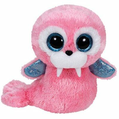 Tusk The Pink Walrus  Ty Beanie Boos   Brand New