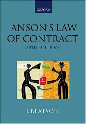 Anson's Law of Contract,Sir Jack Beatson QC