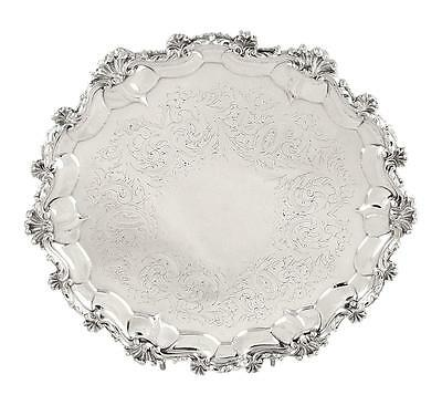 """Antique Victorian Sterling Silver 9"""" Tray/salver - 1851"""