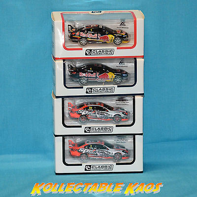 1:64 Classic Carlectables - Holden VF Commodore - V8 Supercar Models - 4 Pack