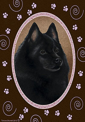 Garden Indoor/Outdoor Paws Flag - Schipperke 171011
