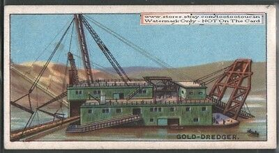 Gold Placer Mining Dredget 90+ Y/O Trade Ad Card