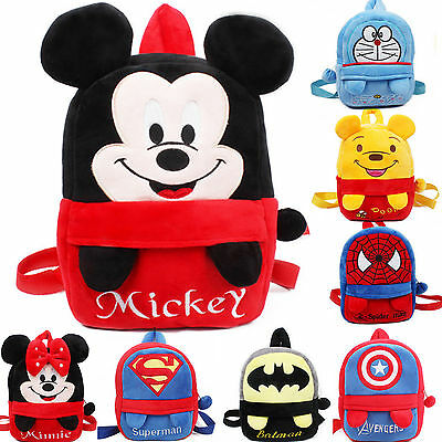 Cute Kid Toddler Backpack Cute Plush Schoolbag Cartoon Small Mini Bag Rucksack