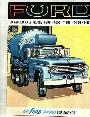 1959 Ford Heavy-Duty Tandem Axle Trucks Deluxe Color Sales Catalog