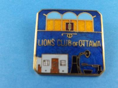 Lions Club Of Ottawa Ontario Canada Vintage Pin Pinback Button Collector