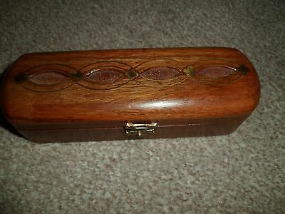 Wooden box with brass detail
