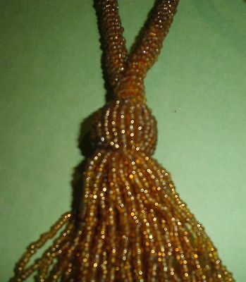 BEADED TASSELS X 2  Large 19cm long Totally beaded. Excellent condition - 25 yrs
