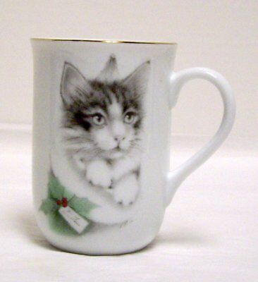 Otagiri Kitty Cat Coffee Mug Christmas Kitten Tea Cup  Jonahs Workshop Japan