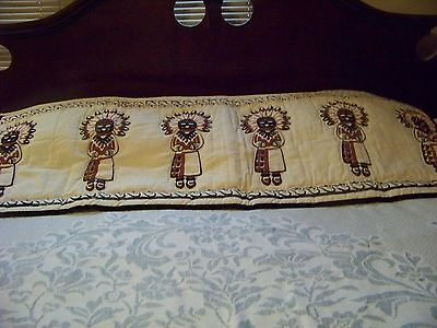 Long  Kachina Valance And One Smaller One, 124 X 17, 54 X 20 Custom Made !!