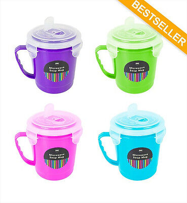 Microwave Bowl & Microwave Cups With Sealable Lids In 4 Colours Lunch Break