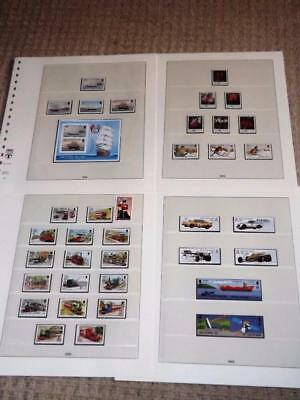 Isle Of Man-1988-Complete Years Commems+Sheet+Trains Defins To £2-Unm-Mnh-