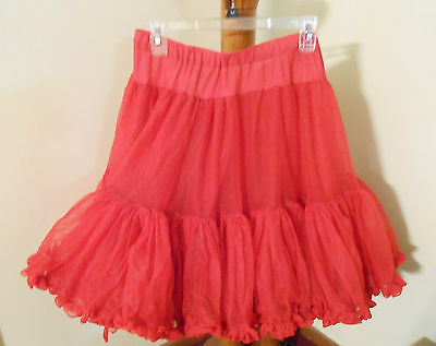 Vintage Petticoat Adult Square Dance CanCan Half Slip Red Sam's Size L