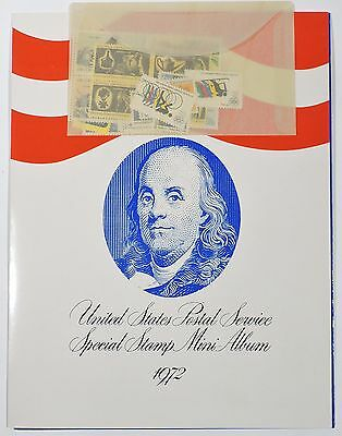 1972 United States Special Stamp Mini Album with Stamps